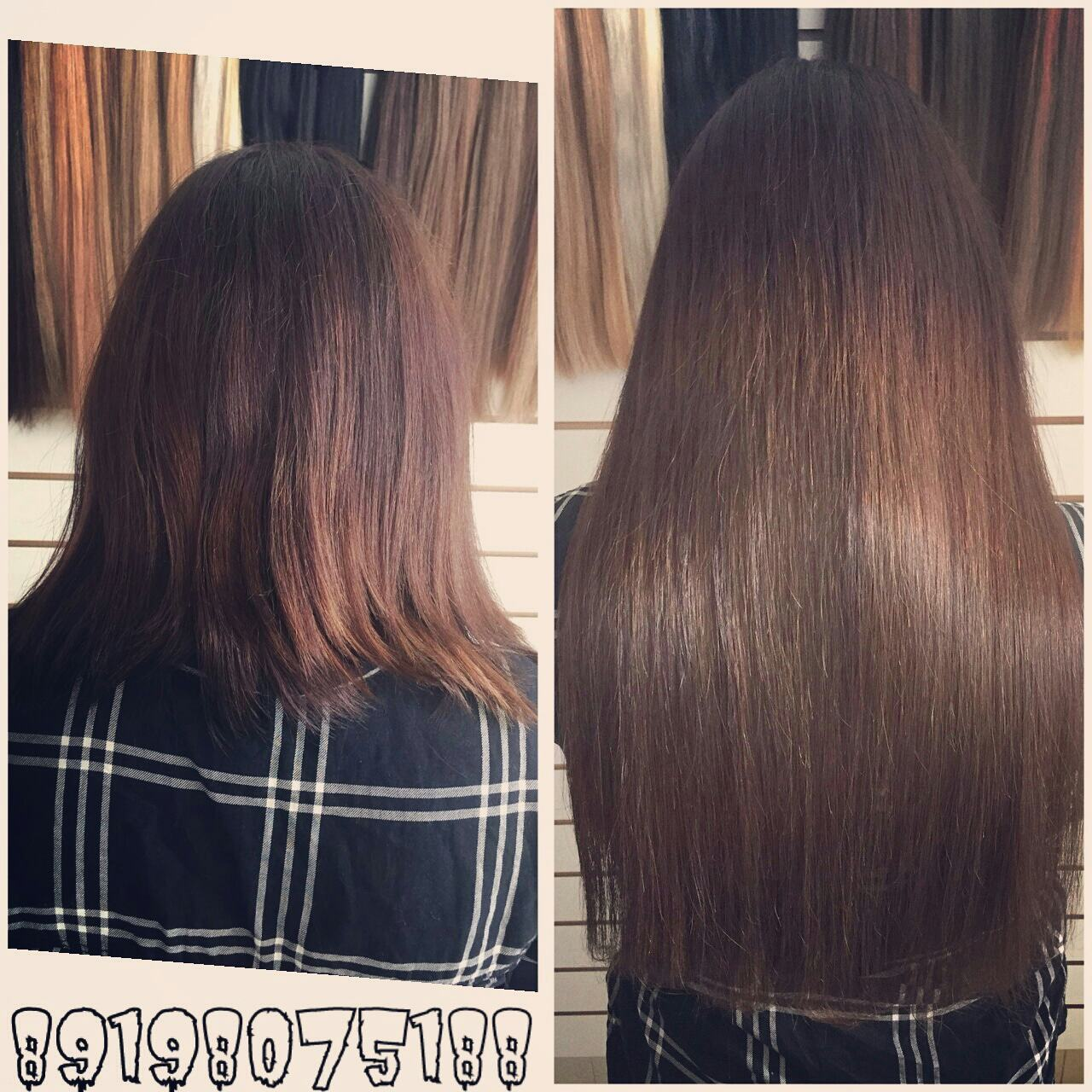 наращивание волос 1
